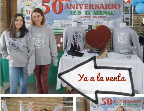 Ya puedes reservar tu sudadera conmemorativa del 50 aniversario del IES El Arenal.