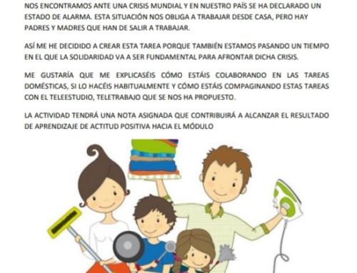 Actividad Coeducativa en tiempos de Estado de Alarma.