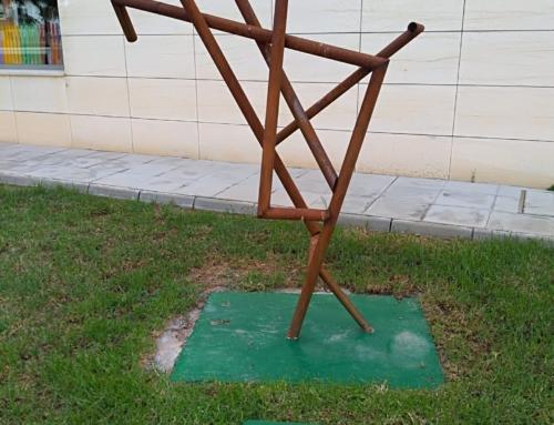 Lugar definitivo para la escultura 90º.