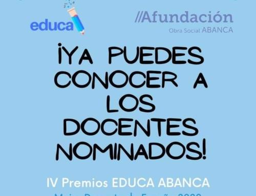 IV Premios Educa ABANCA, Mejos Docente de España 2020.