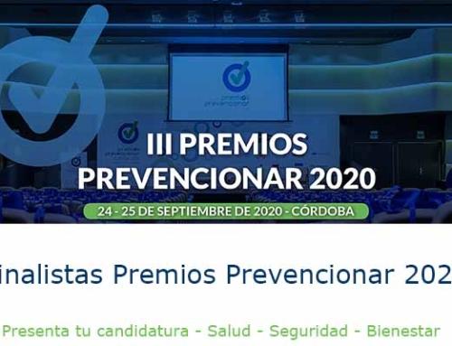 Finalistas en la III Edición de los Premios Prevencionar. Categoría Prevencionar Andalucía.