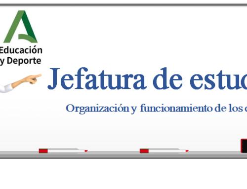 JEFATURA DE ESTUDIOS:ORGANIZACIÓN Y FUNCIONAMIENTO DE LOS CENTROS