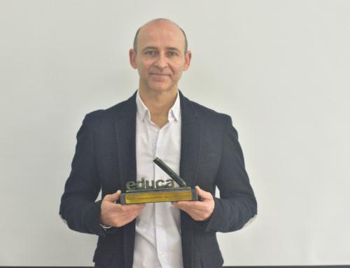 Recogida Premio Educa Abanca. Mejor Profesor de España de Formación Profesional 2020.