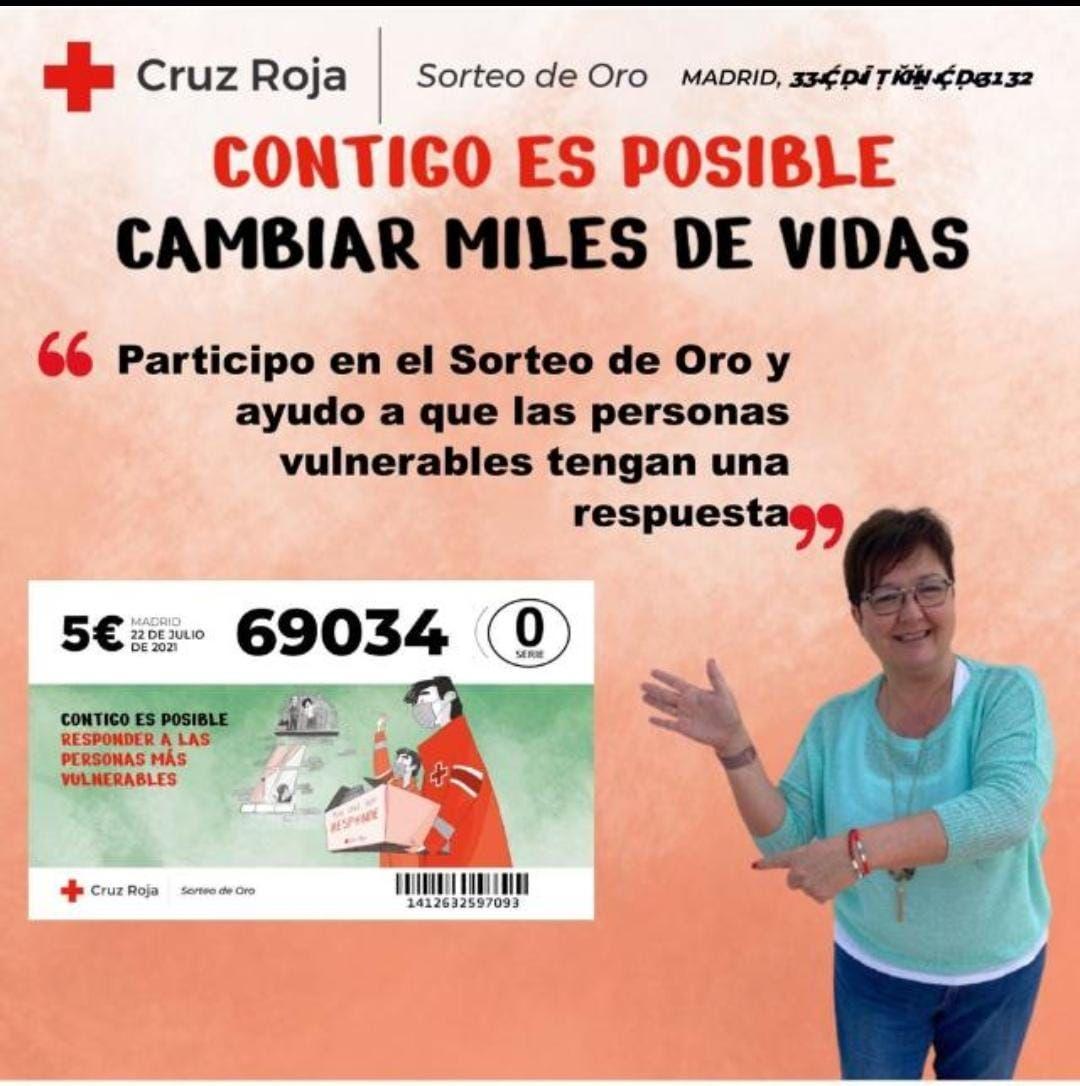 Sorteo de Oro. Cruz Roja.