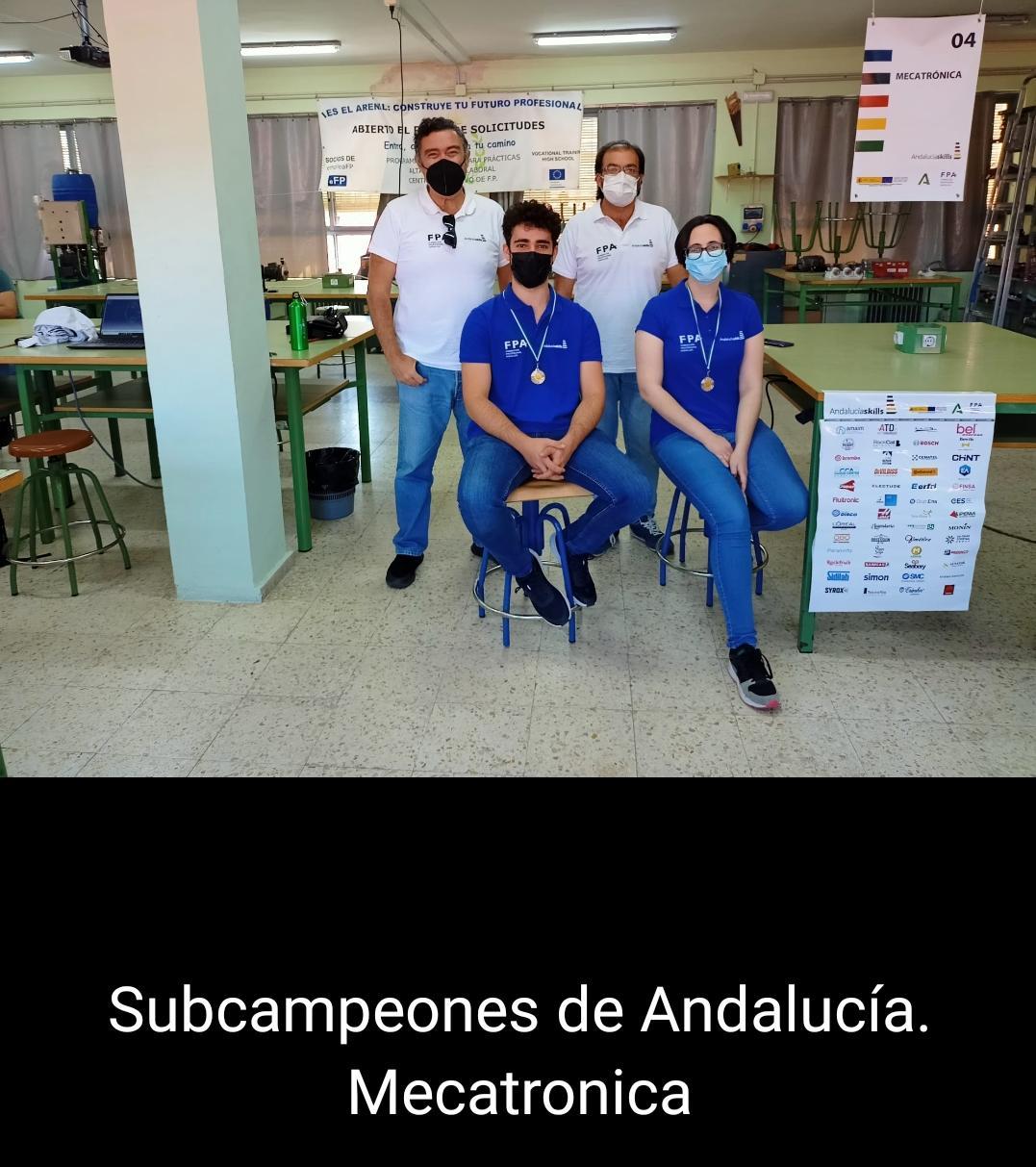 Subcampeones en Mecatrónica. Andalucía Skills.